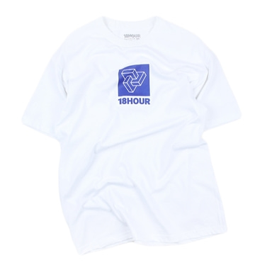 [18 HOUR] 3#BLUE LOGO SHORT TEE