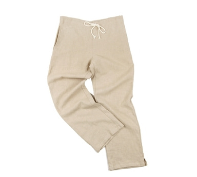 [18 HOUR] 21# HEAVY LINEN WIDE FIT EASY PANTS (BEIGE)