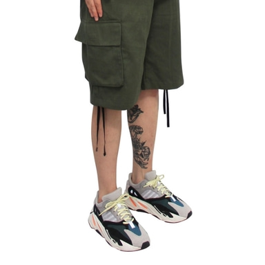 [CLACO] MILITARY CARGO PANTS 1/2 (KHAKI)