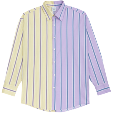 [ACME DE LA VIE] ADLV HALF  SHIRT PURPLE YELLOW