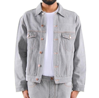 [$ SHOP SALE] [EPTM] DENIM TRUCKER JACKET (GREY)