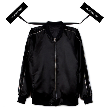 [BLACKBLOND] BBD ZIP VELVET ARMED SUKAJAN JACKET (BLACK)