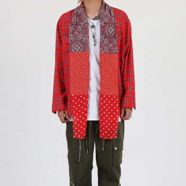 [9월 28일 예약발송] [INNOVANT] PAISLEY SHIRT (RED)