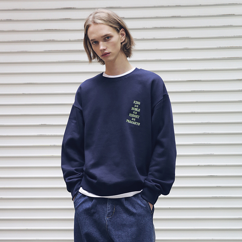 [MASSNOUN] EQUAL DEATH SWEATSHIRT MFECR001-NV
