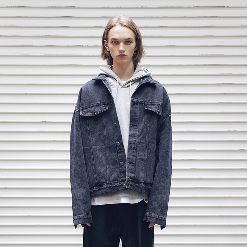 [MASSNOUN] SB OVERSIZED DENIM JACKET MFEJK004-BK