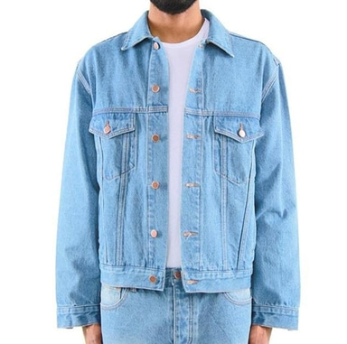 [$ SHOP SALE] [EPTM] DENIM TRUCKER JACKET (BLUE)