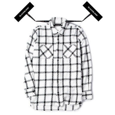 [BLACKBLOND] BBD PLAID TWEED SHIRT (WHITE)