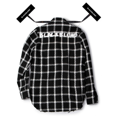 [BLACKBLOND] BBD PLAID TWEED SHIRT (BLACK)