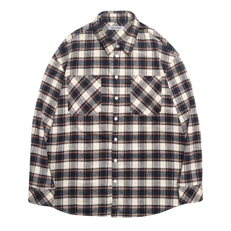 [DEADEND] BROWN FLANNEL SHIRTS (BROWN)