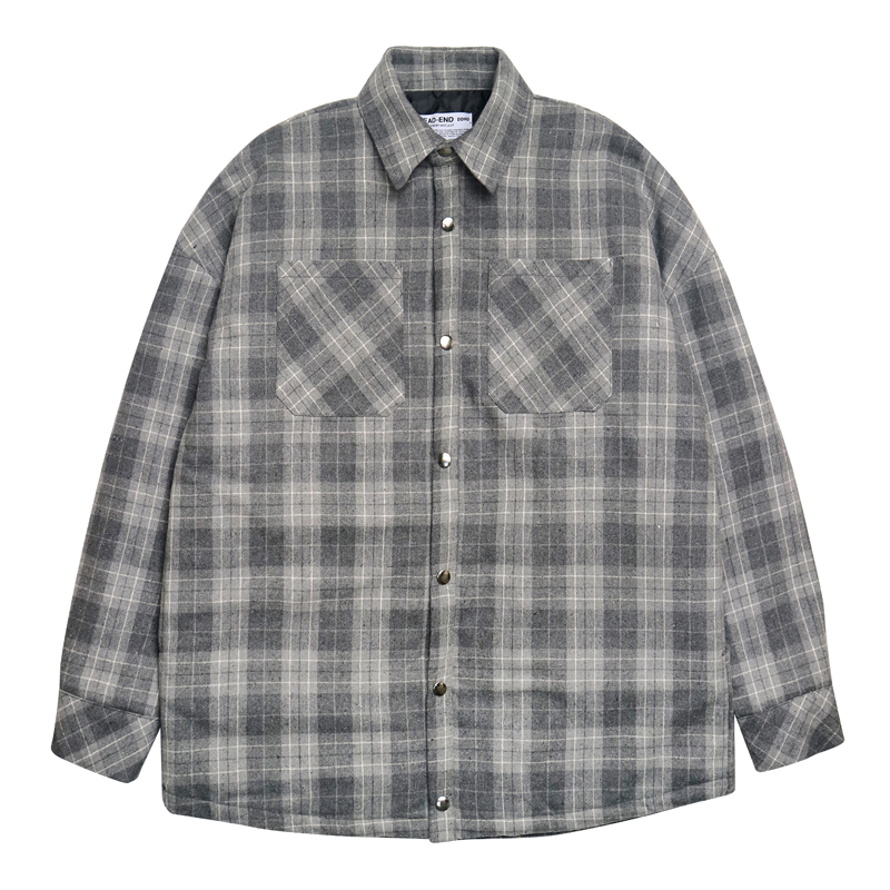 [DEADEND] GRAY FLANNEL PADDING SHIRTS (GRAY)