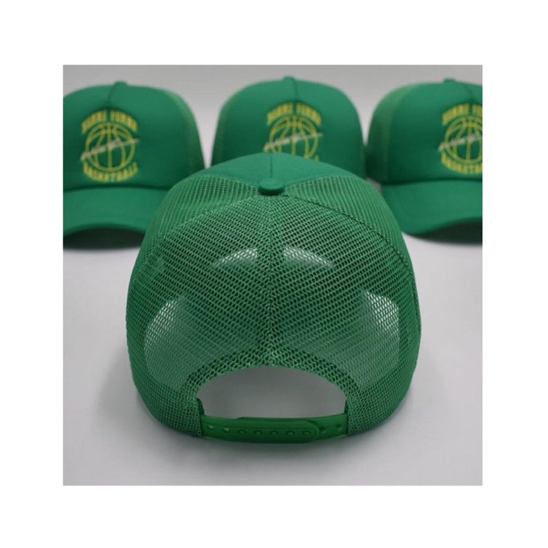 VINTAGE BASKETBALL TRUCKER HAT GREEN