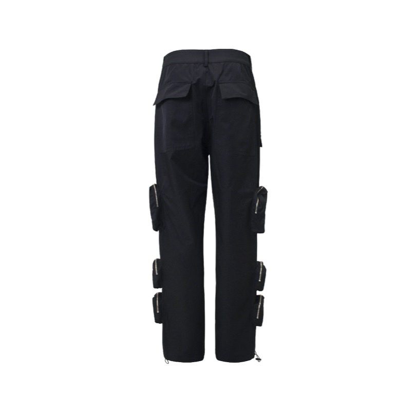 MULTI POCKET PANTS BLACK