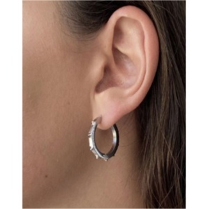 SPIKE HOOP EARRING MEDIUM