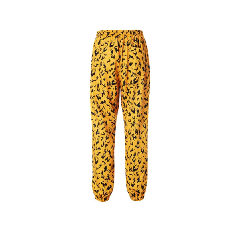 MAGMA CAMO SWEAT PANTS ORANGE