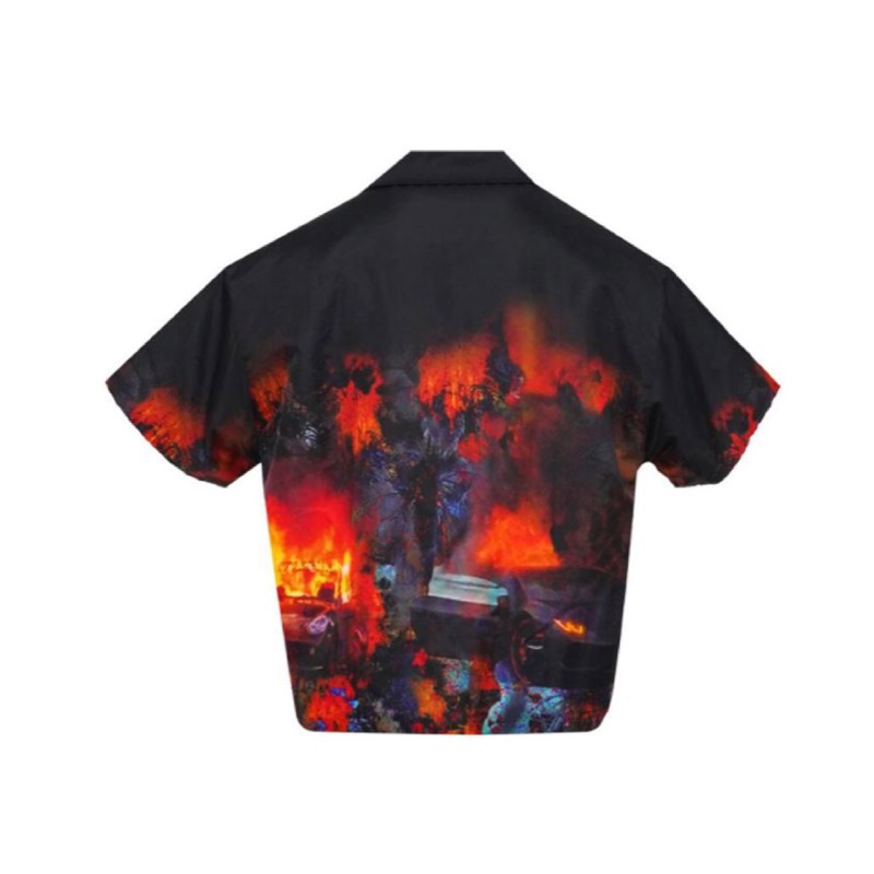 [SEASON OFF SALE] RIOT PUFFER SHIRT BLACK