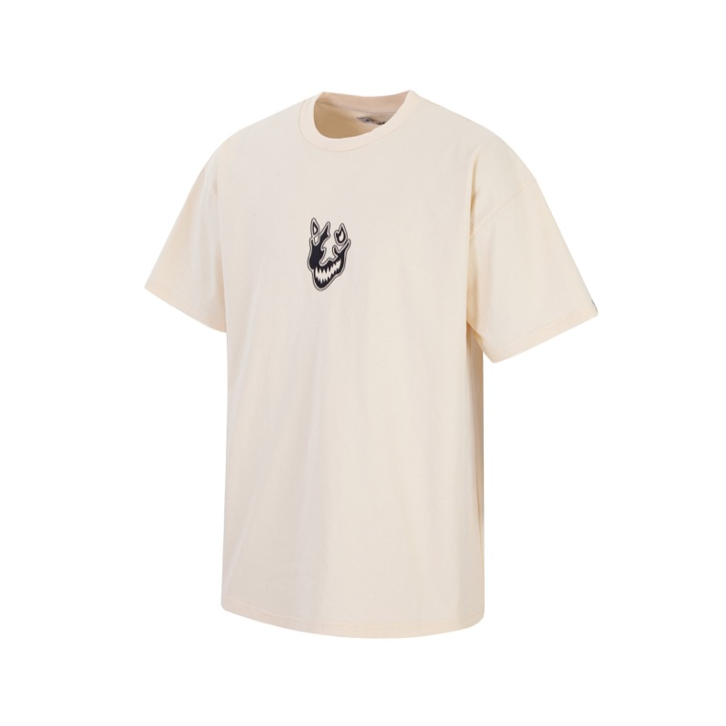 CREAM FLAME FACE T-SHIRT