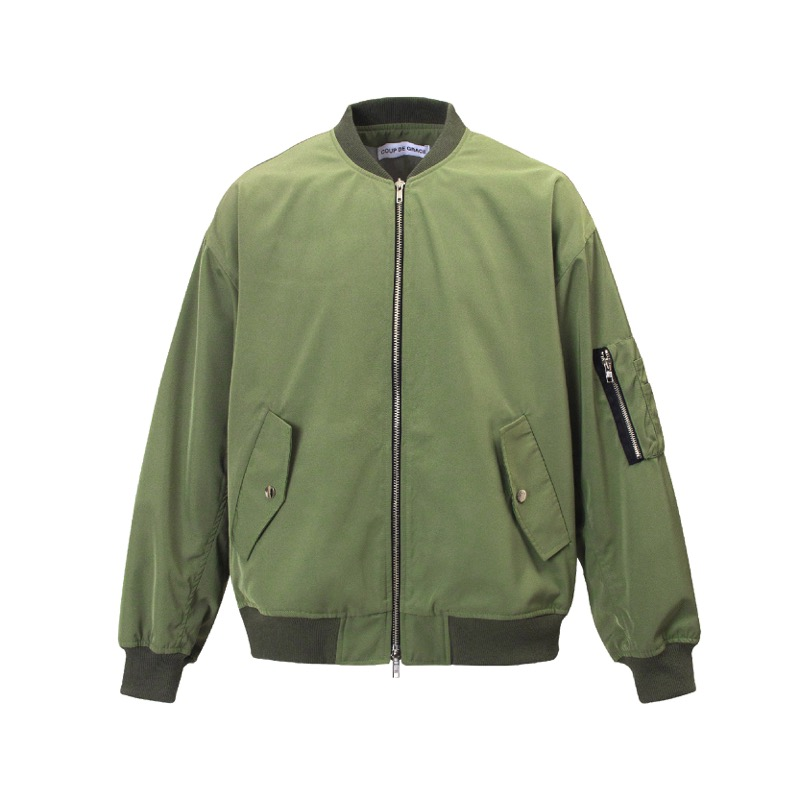 BACK POCKET MA-1 JACKET OLIVE